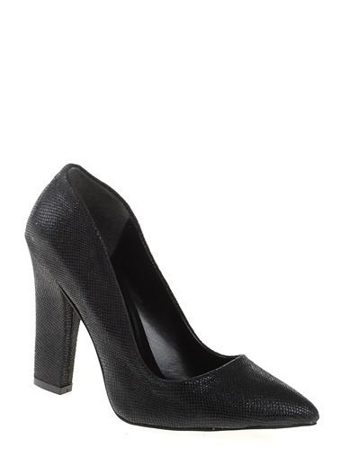 Bambi Kalın Topuklu Ayakkabı Siyah